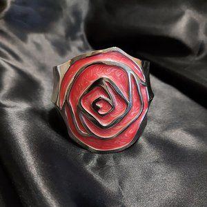 Large Rose Cuff Bracelet